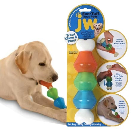 Ever Tuff Treat Pod Chicken Flavoured Interactive Dog Toy