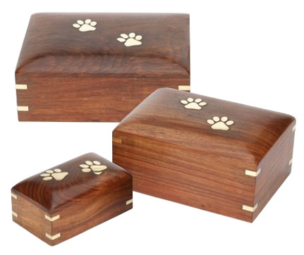 Elstree Wooden Pet Urn And Pet Keepsake Box