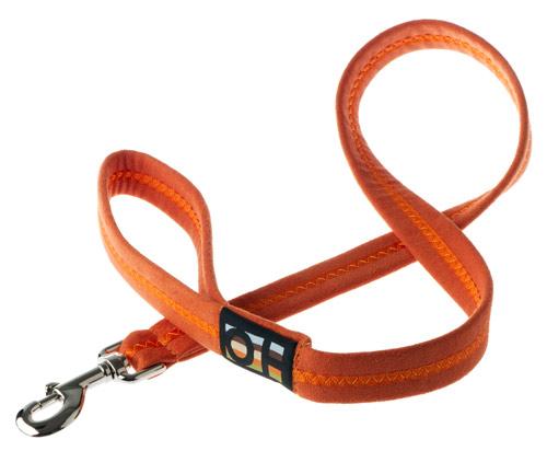 Luxury Soft Faux Suede Orange Dog Lead Uk Made