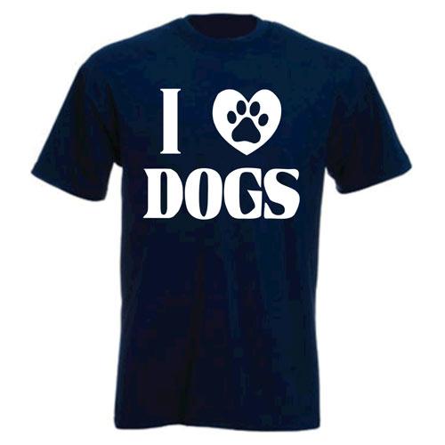 Unisex T Shirt I Love Dogs Slogan Dog T Shirts For People