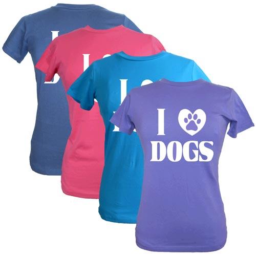Women S T Shirt I Love Dogs Dog Slogan T Shirts